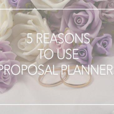 5個使用求婚策劃師的原因