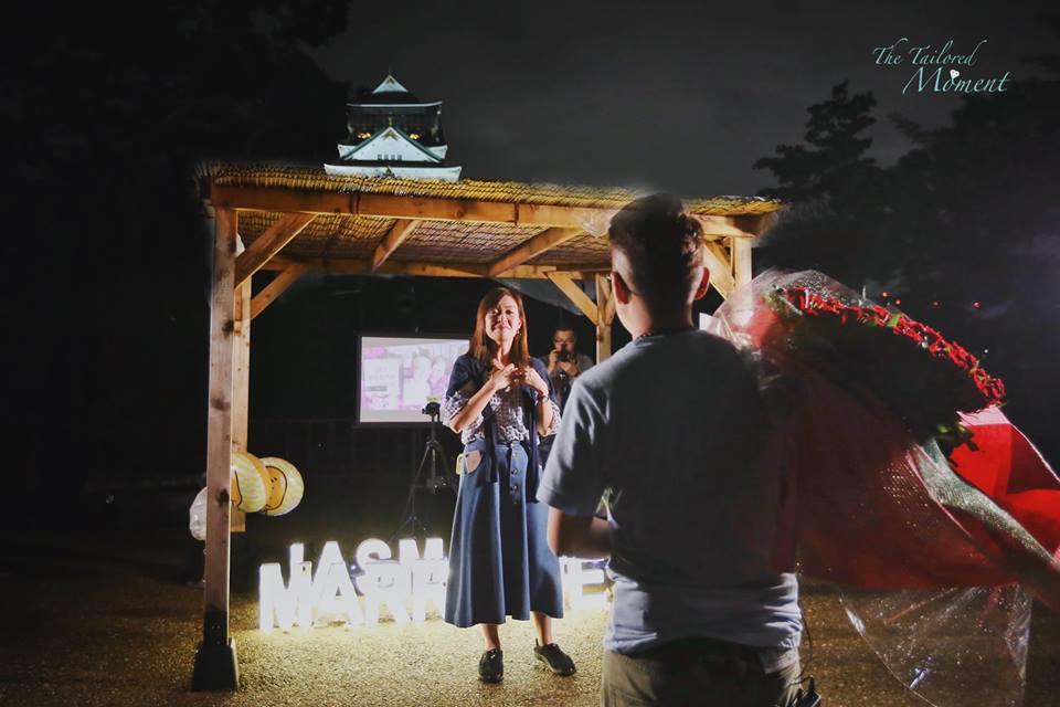 大阪旅行求婚