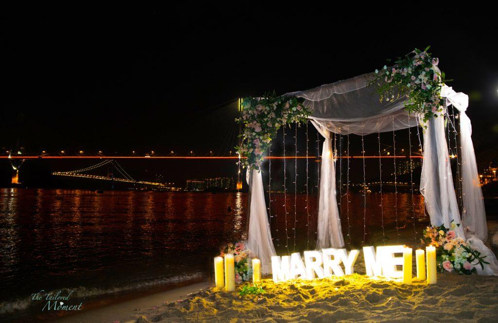 香港沙灘拱門歐陸式浪漫風格佈置