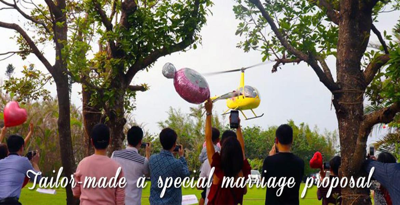香港直升機驚喜求婚策劃