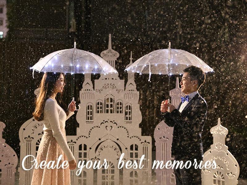 香港飄雪感動求婚