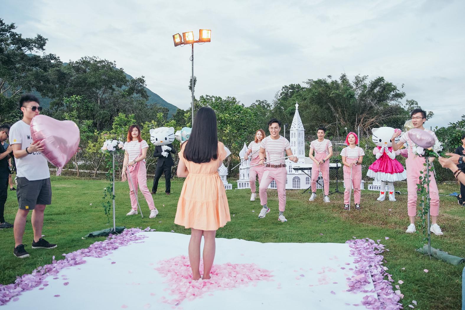香港草地童話跳舞求婚