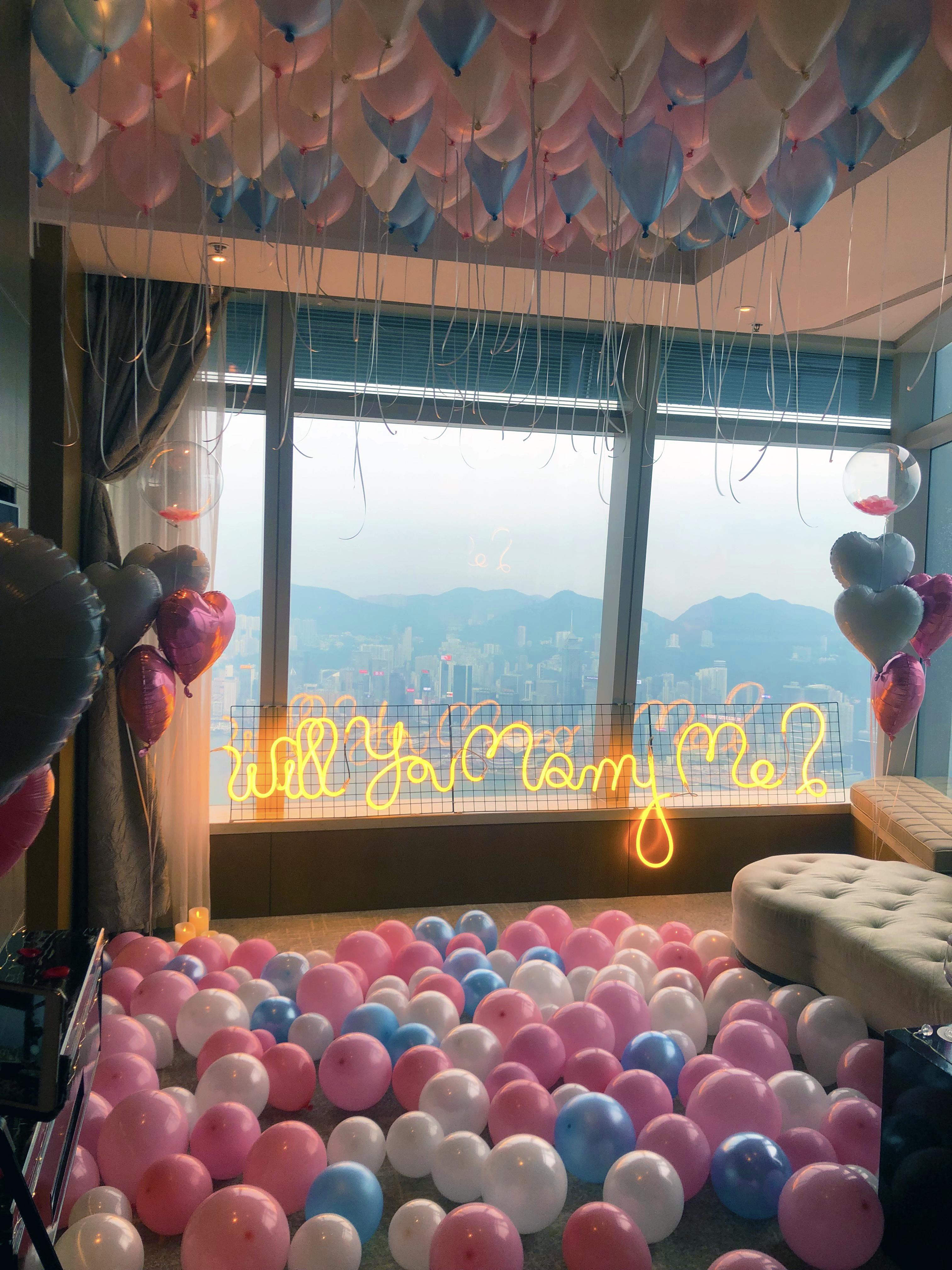 香港高級酒店求婚浪漫佈置