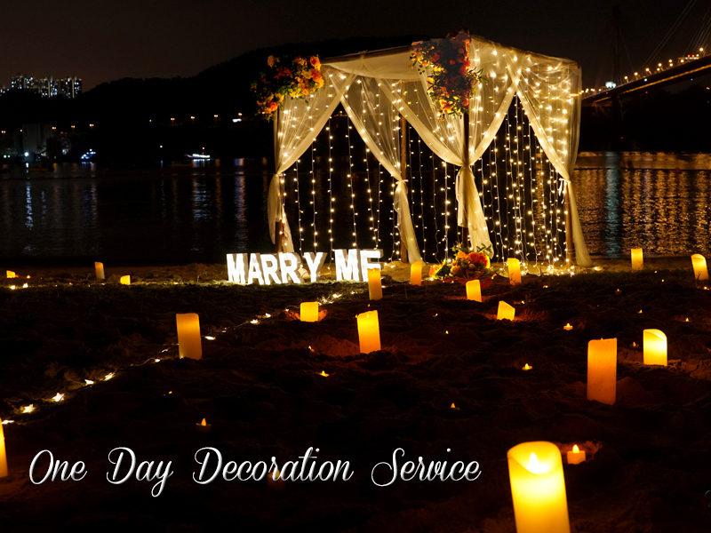 香港浪漫小屋拱門沙灘求婚佈置