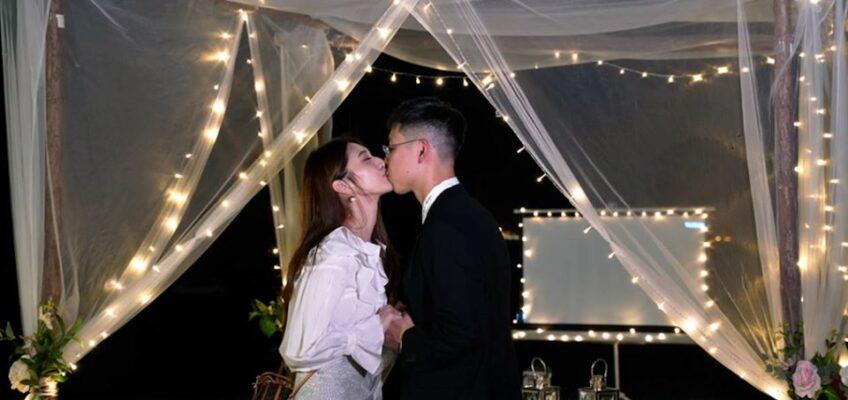 香港沙灘拱門小屋浪漫感動求婚