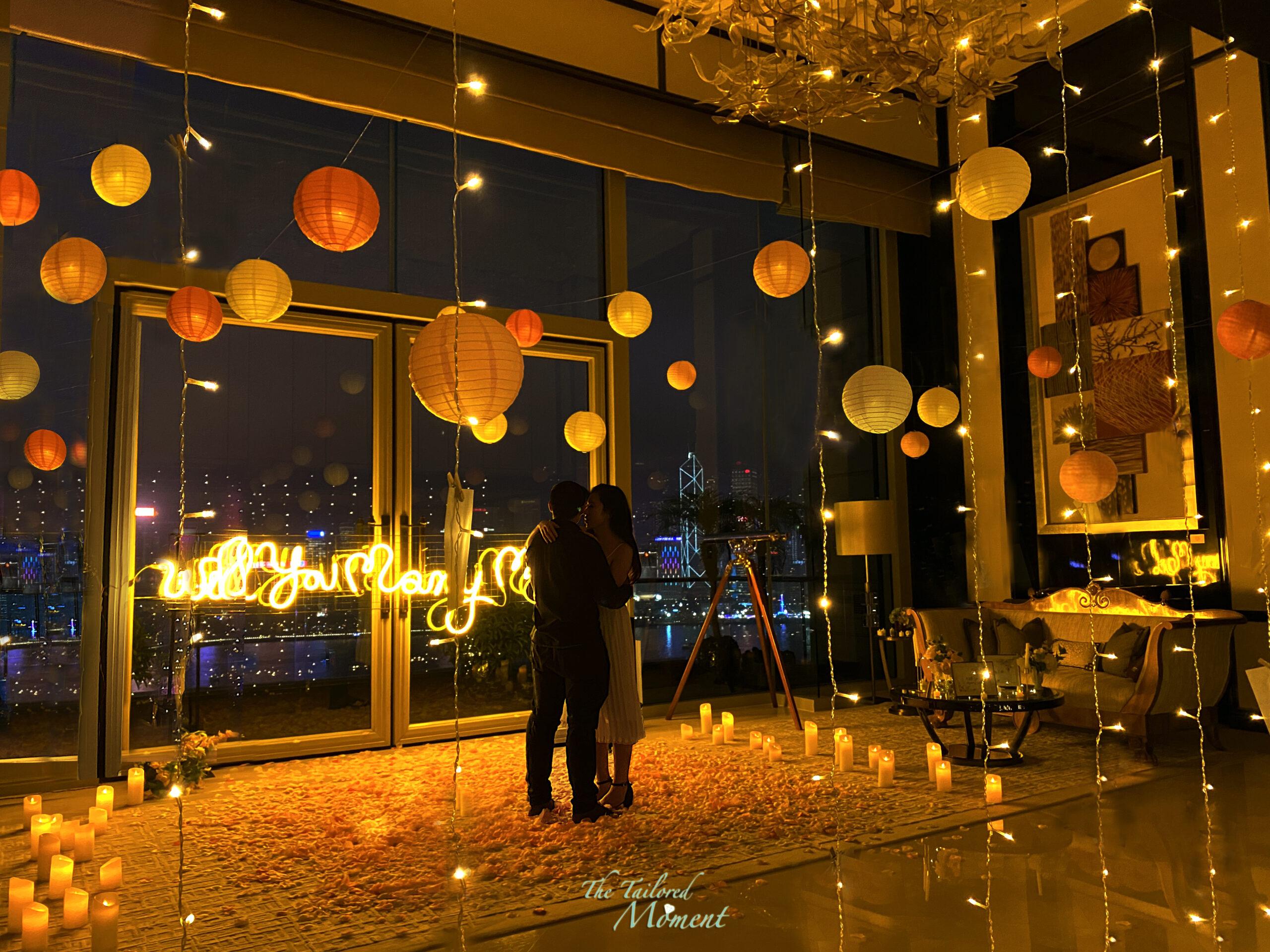 香港酒店魔法奇綠求婚