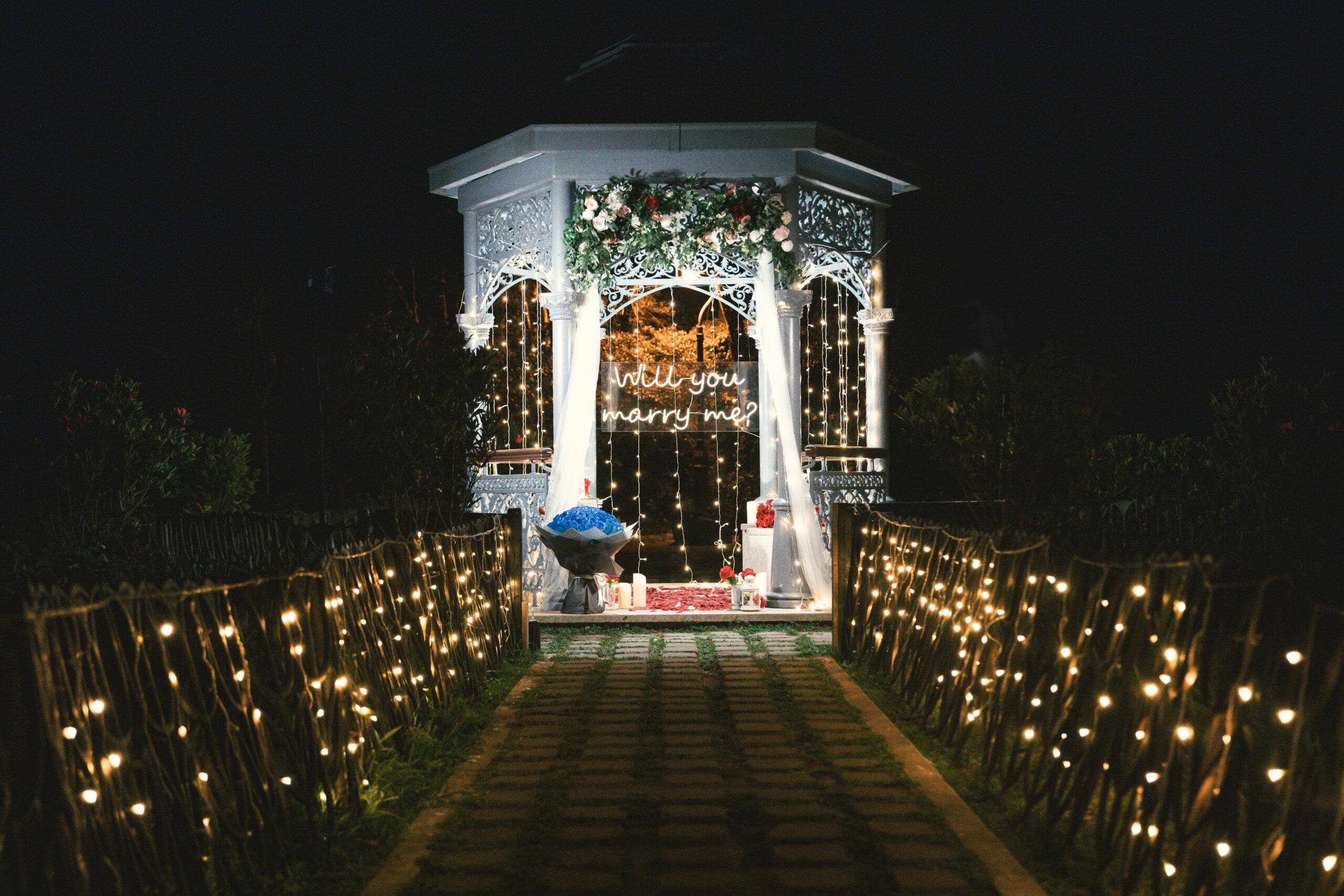 香港山頂花園求婚