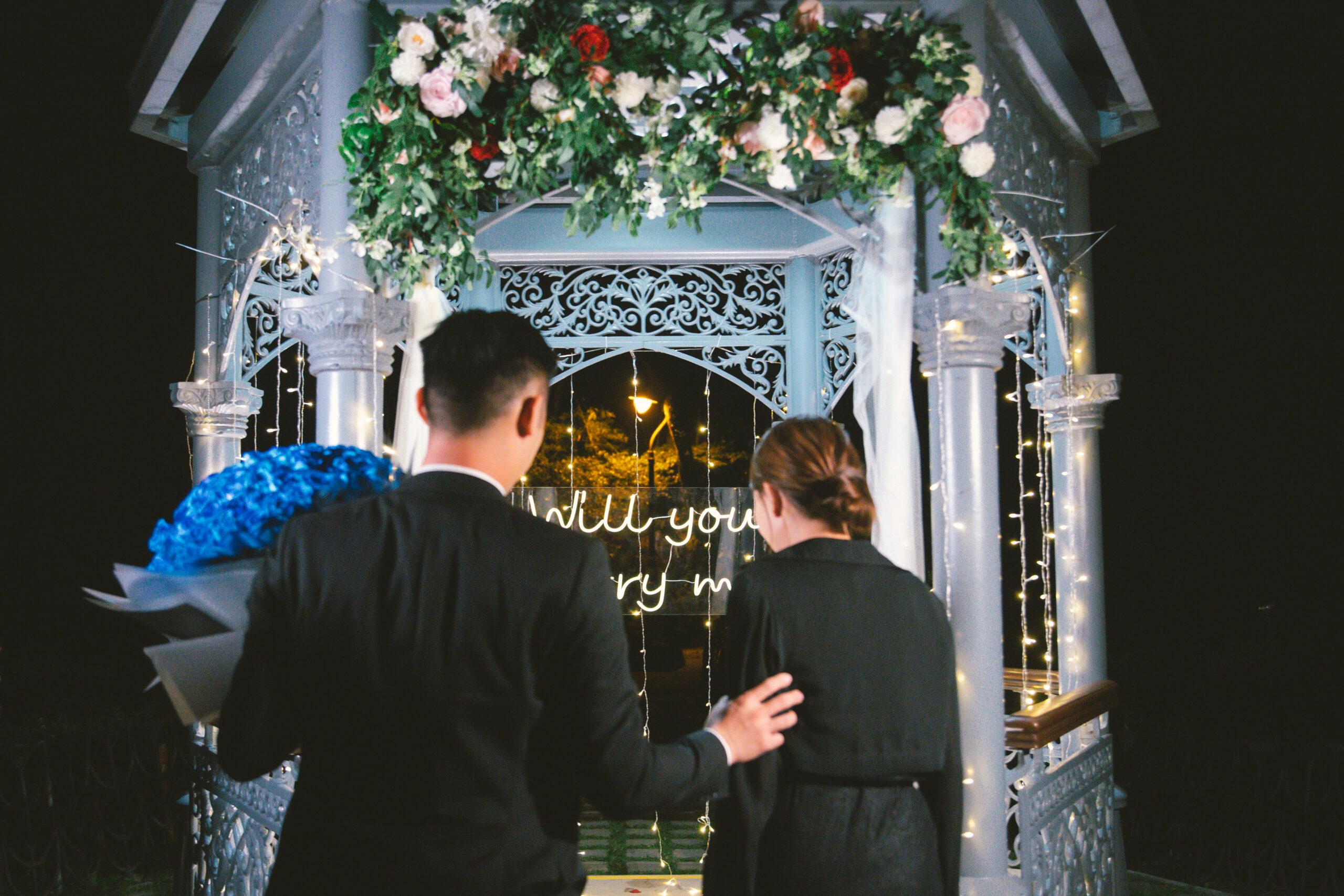香港山頂花園浪漫求婚