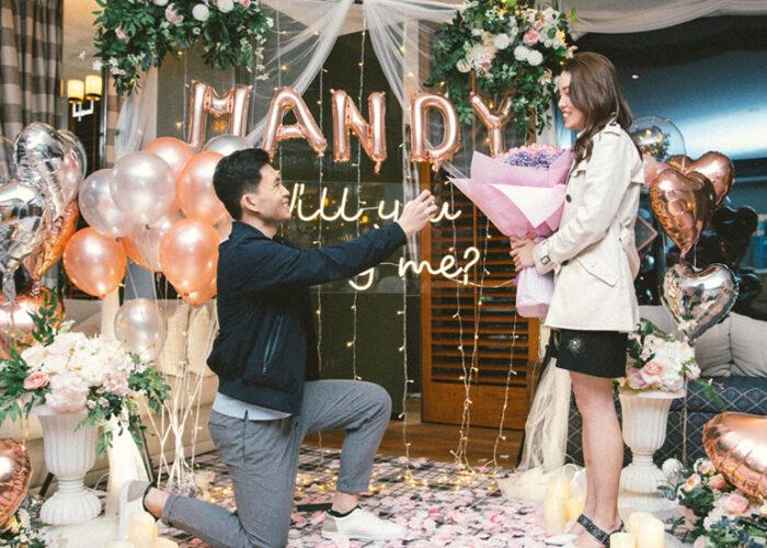 香港酒店浪漫求婚場地佈置