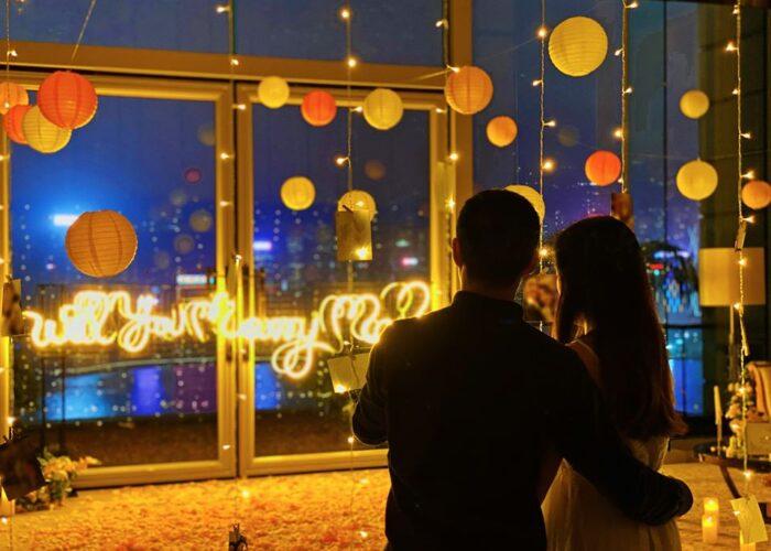 半島酒店浪漫求婚佈置