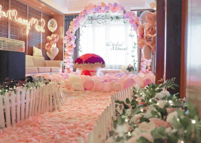 香港五星級酒店求婚佈置