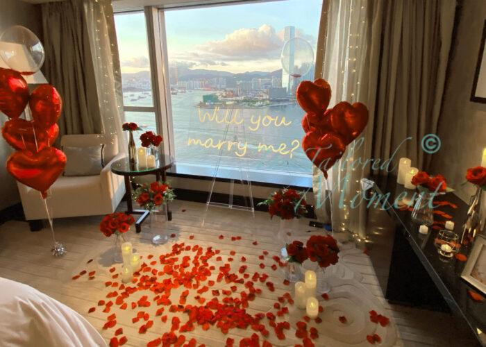 香港四季酒店求婚佈置