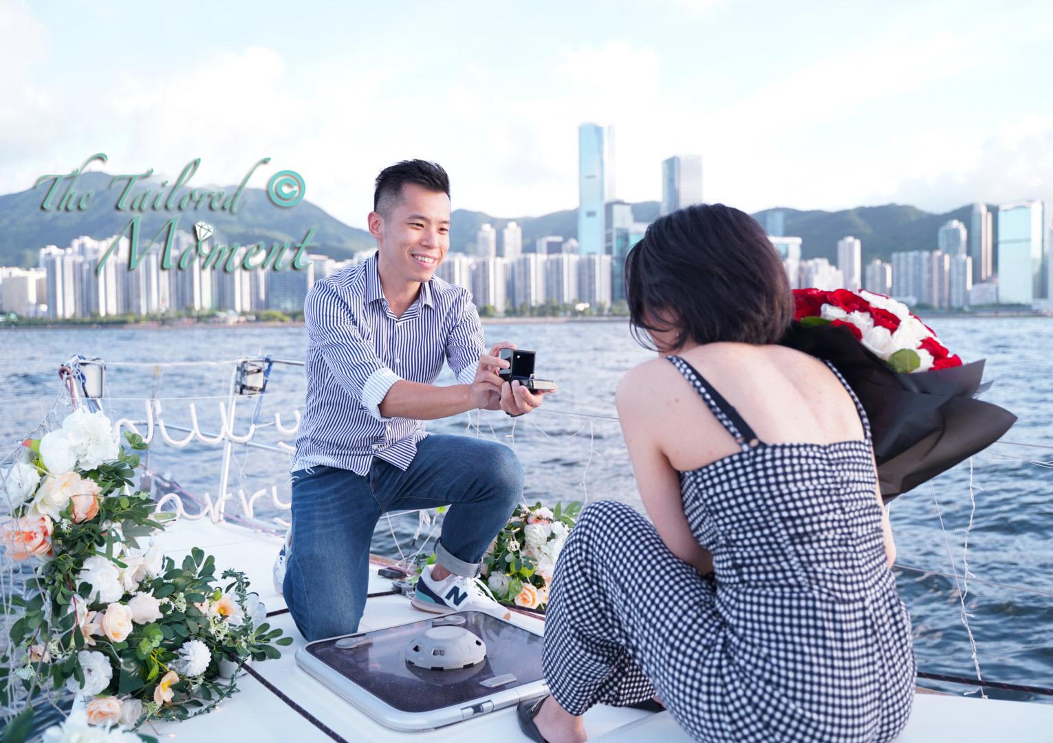 香港帆船遊艇特別求婚