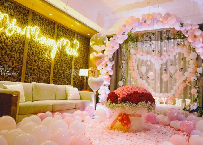 香港酒店夢幻童話求婚場地佈置