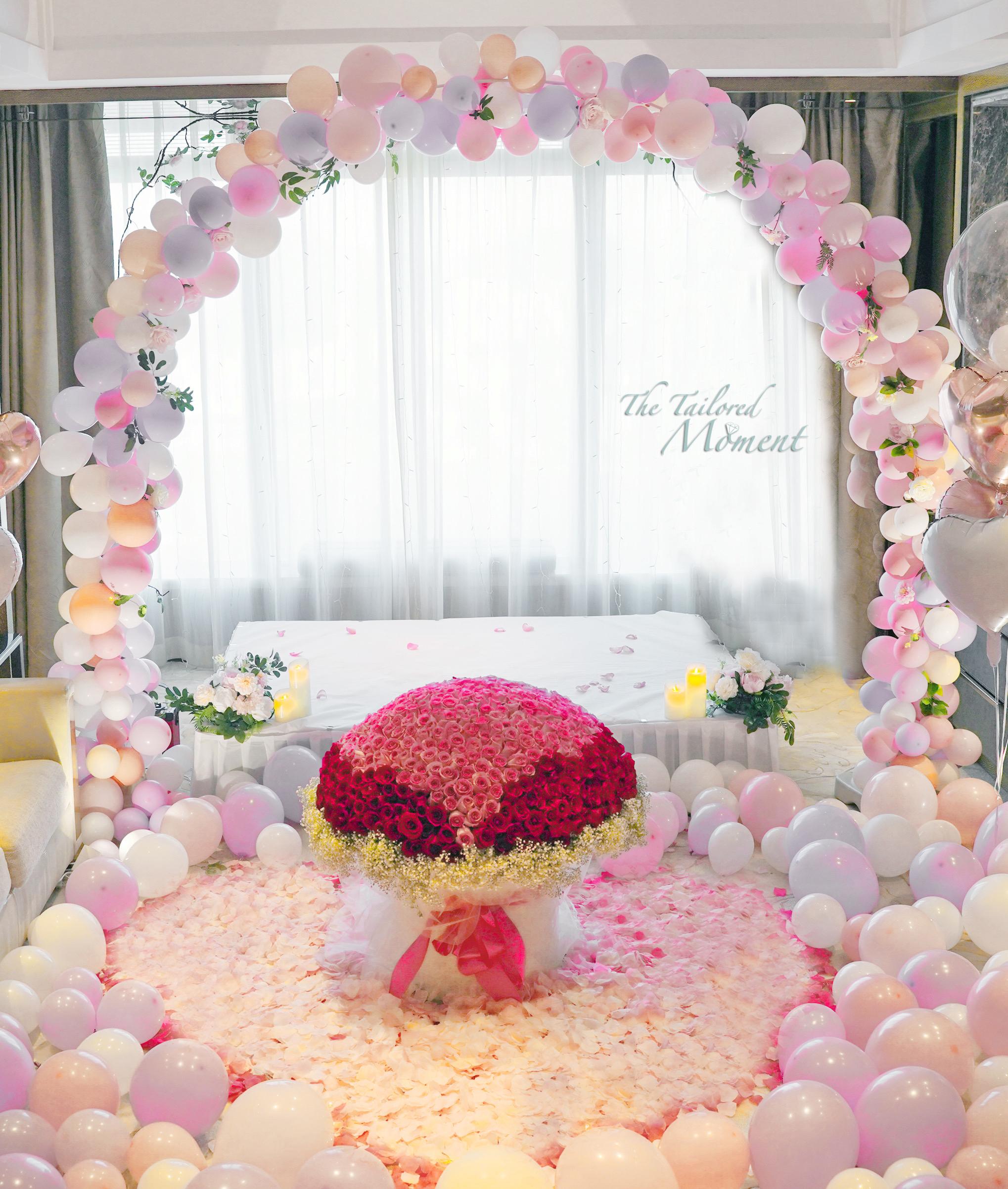 香港酒店求婚佈置