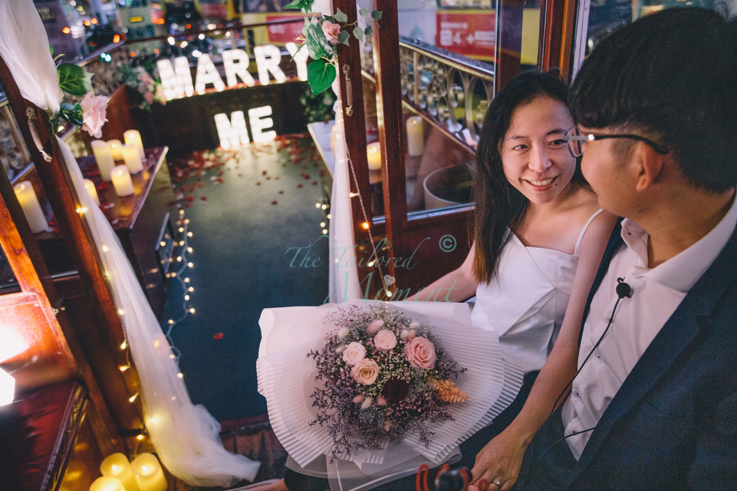 香港電車浪漫求婚派對