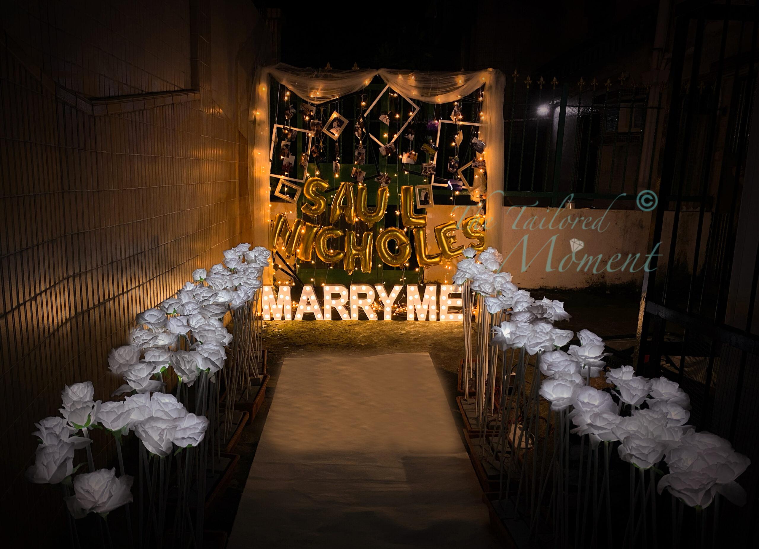 求婚拱門酒店浪漫佈置