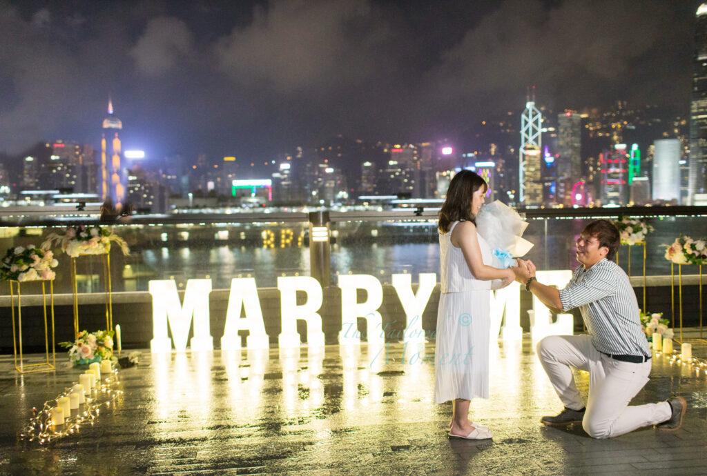 香港維港海景求婚